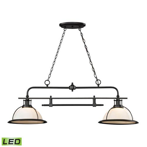 Elk Lighting Wilmington Oil Rubbed Bronze LED Two Light Island