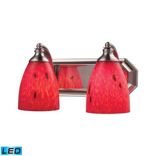 Elk Lighting Vanity Satin Nickel LED Two Light Bath Fixture