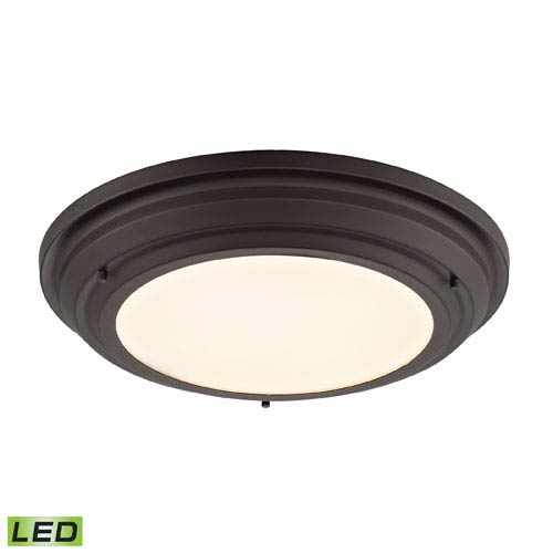 Elk Lighting Sonoma Oil Rubbed Bronze LED One Light Flush Mount Fixture