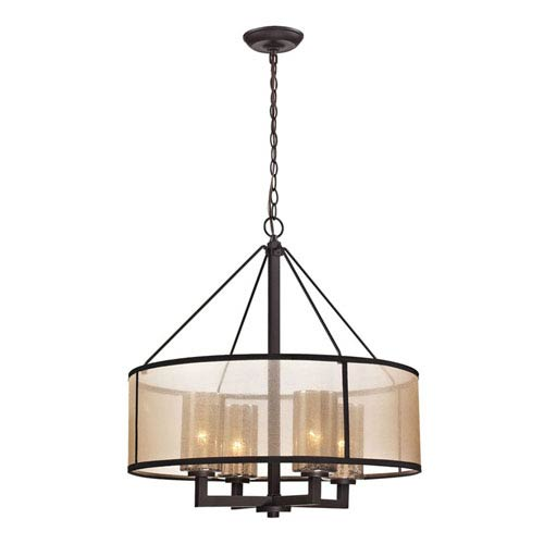 Diffusion Oil Rubbed Bronze Four Light Chandelier