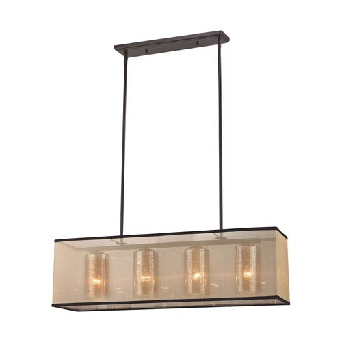 Diffusion Oil Rubbed Bronze 9-Inch Four-Light Pendant