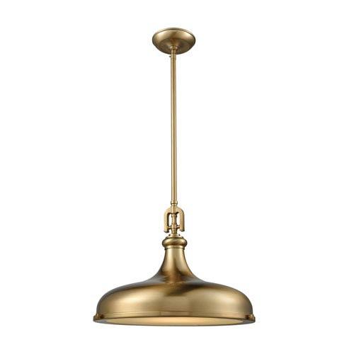 Elk lighting rutherford satin brass 18 inch one light pendant 57072 elk lighting rutherford satin brass 18 inch one light pendant aloadofball Image collections