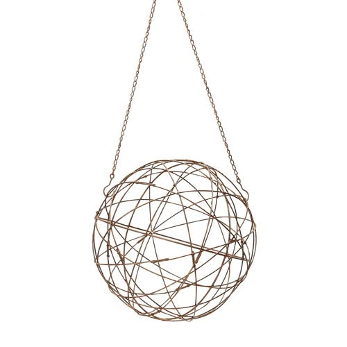Aged Iron Wire 16-Inch Sphere