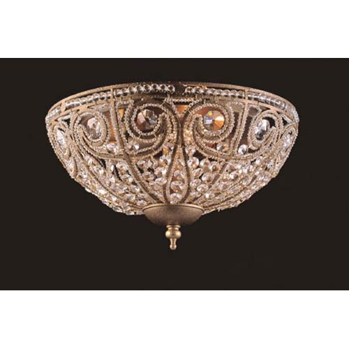 Elk Lighting Elizabethan Large Dark Bronze Flush Mount Ceiling Light