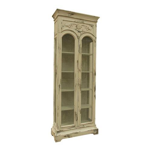 Handpainted Victorian Cream Display Cabinet