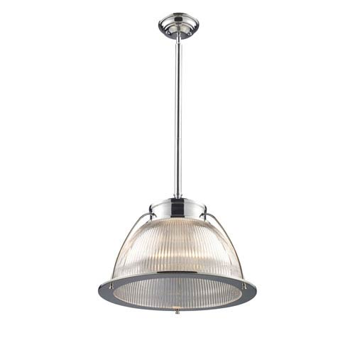 Elk Lighting Halophane Polished Chrome 13-Inch One Light Pendant