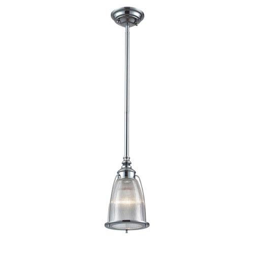 Elk Lighting Halophane Polished Chrome One Light Mini Pendant