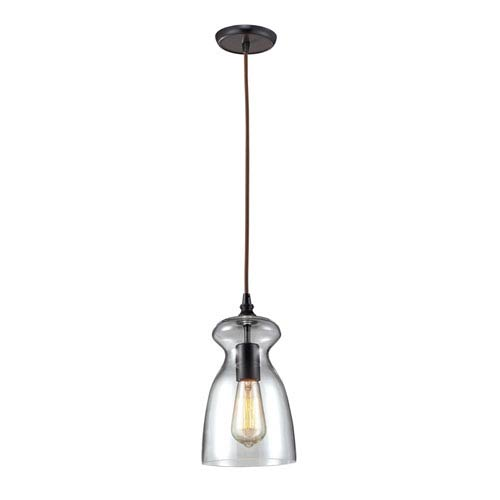 Elk Lighting Menlow Park Oiled Bronze 11-Inch One Light Mini Pendant