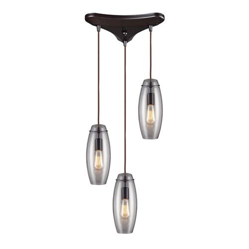 Elk Lighting Menlow Park Oiled Bronze 12-Inch Three Light Pendant