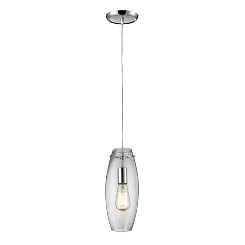 Elk Lighting Menlow Park Polished Chrome 12-Inch One Light Mini Pendant