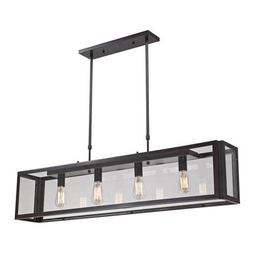 Elk Lighting Parameters-Bronze Bronze Four Light Pendant