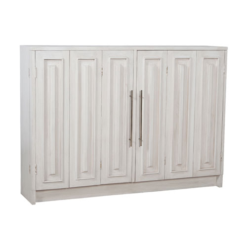 GuildMaster Handpainted Parsons White Wash Sideboard