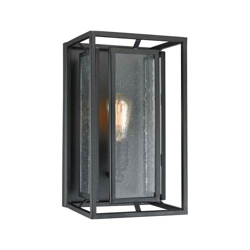 Eastgate Textured Black One-Light Wall Sconce