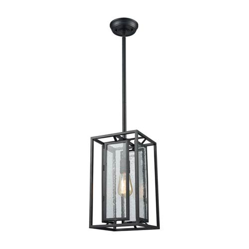 Eastgate Textured Black One-Light Mini Pendant