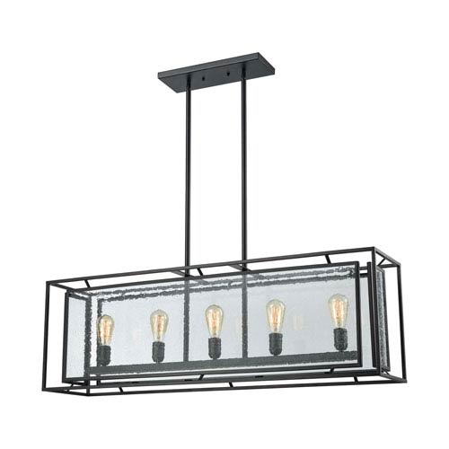 Eastgate Textured Black Five-Light Pendant