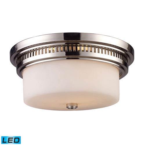 Chadwick Polished Nickel LED Two Light Flush Mount Fixture