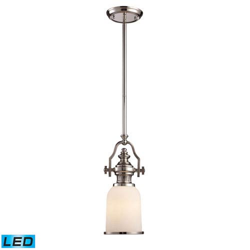 Chadwick Polished Nickel 16.5-Inch LED One Light Mini Pendant