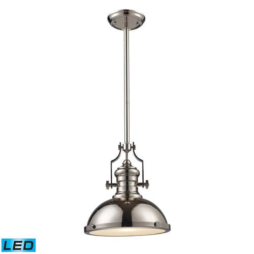 Elk Lighting Chadwick Polished Nickel 14-Inch LED One Light Pendant