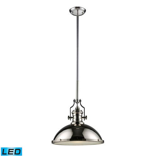 Elk Lighting Chadwick Polished Nickel 17-Inch LED One Light Pendant