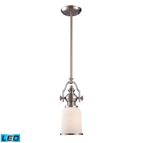 Elk Lighting Chadwick Satin Nickel 16 5 Inch Led One Light Mini Pendant
