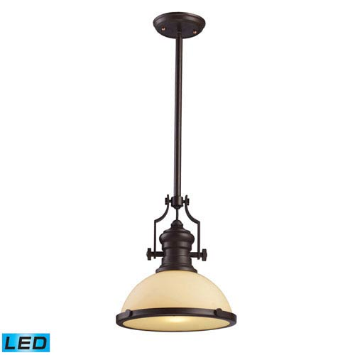 Elk Lighting Chadwick Oiled Bronze 13-Inch LED One Light Pendant