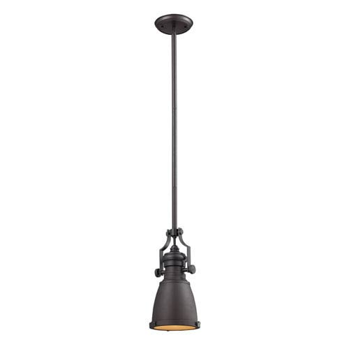 Elk Lighting Chadwick Oiled Bronze 8-Inch One Light Mini Pendant