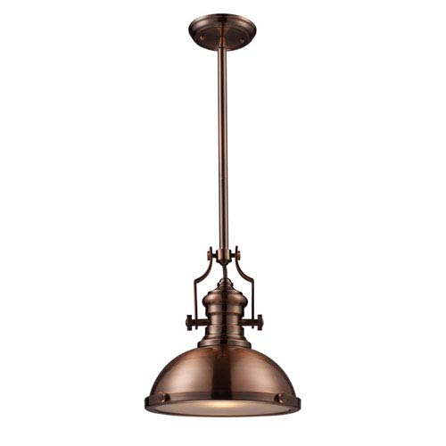Elk Lighting Chadwick Antique Copper 13-Inch One Light Pendant