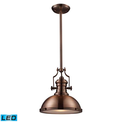Elk Lighting Chadwick Antique Copper 13-inch LED One Light Pendant