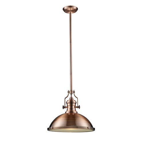 Elk Lighting Chadwick Antique Copper 17-Inch One Light Pendant