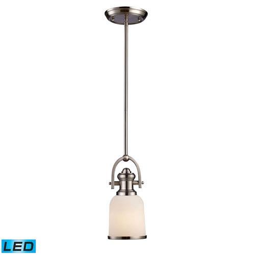 Brooksdale Satin Nickel LED One Light Mini Pendant
