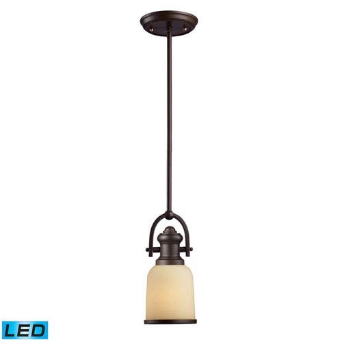 Elk Lighting Brooksdale Oiled Bronze LED One Light Mini Pendant