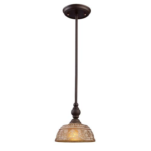 Elk Lighting Norwich Oiled Bronze One Light Mini Pendant