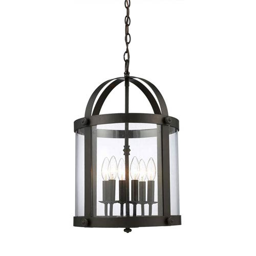 Elk Lighting Chesapeake Oiled Bronze Six Light Pendant