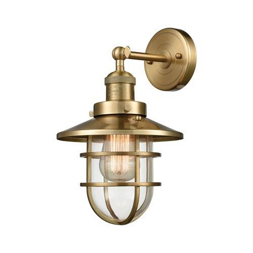 Elk Lighting Seaport Satin Brass 8-Inch One-Light Wall Sconce