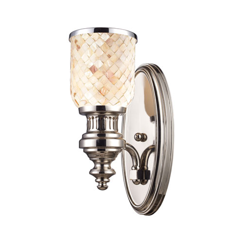 Elk Lighting Chadwick Polished Nickel 13-Inch One Light Wall Sconce