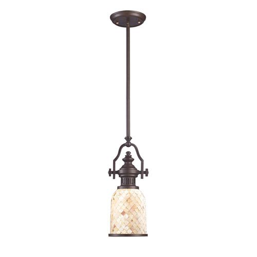 Elk Lighting Chadwick Oiled Bronze 6-Inch One Light Mini Pendant