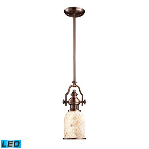 Chadwick Antique Copper 6-Inch LED One Light Mini Pendant
