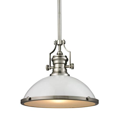 Chadwick Satin Nickel 17-Inch One-Light Pendant