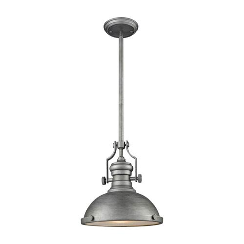 Elk Lighting Chadwick Weathered Zinc 13 Inch One Light Pendant