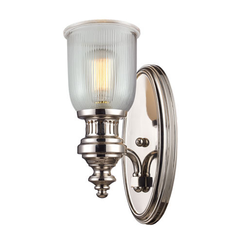 Elk Lighting Chadwick Polished Nickel 7-Inch One Light Wall Sconce