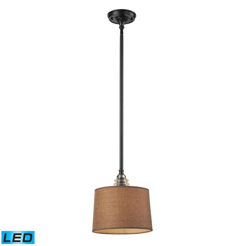 Elk Lighting Insulator Glass Oiled Bronze LED One Light Pendant