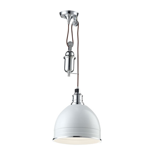 Carolton Chrome 12-Inch One-Light Pendant with Hanging Detail
