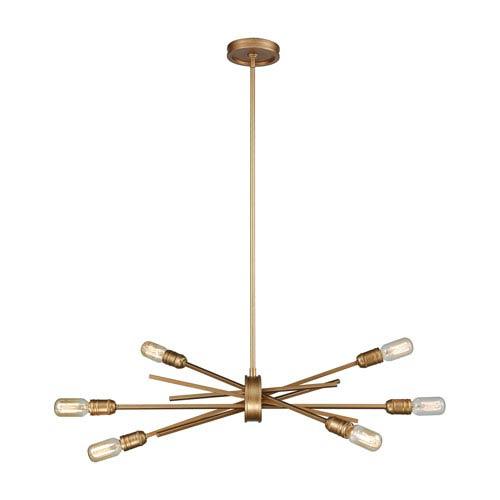 Xenia Matte Gold 31-Inch Six-Light Chandelier