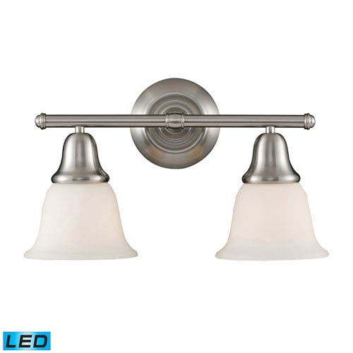 Elk Lighting Berwick Brushed Nickel LED Two Light Bath Fixture