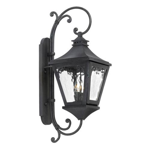 Elk Lighting Manor Charcoal Two Light Outdoor Sconce