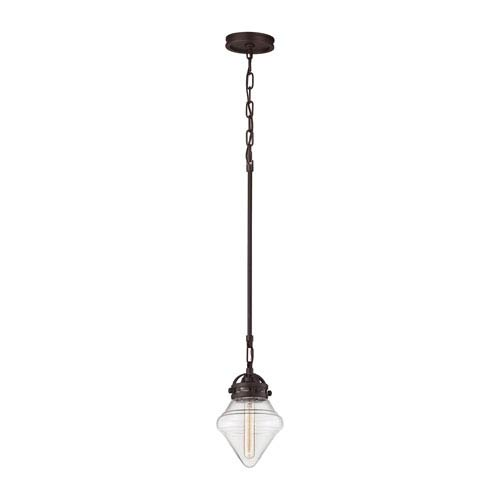 Gramercy Oil Rubbed Bronze 7-Inch One-Light Mini Pendant with Clear Glass