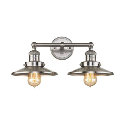 English Pub Satin Nickel 18-Inch Two-Light Vanity