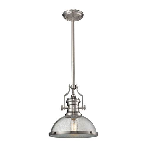Chadwick Satin Nickel 13-Inch One-Light Pendant