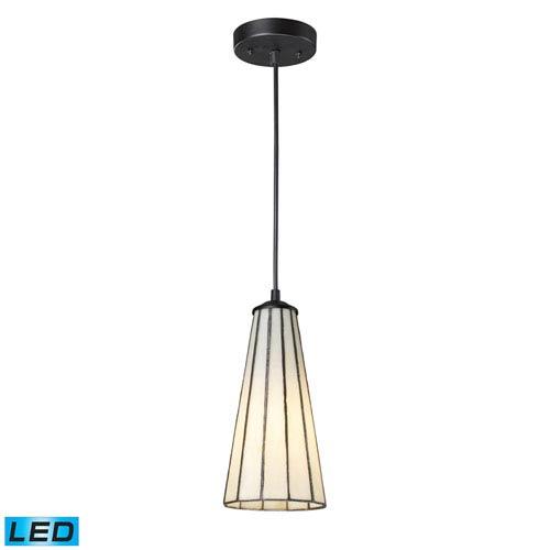 Elk Lighting Lumino Comet White and Matte Black LED One Light Mini Pendant