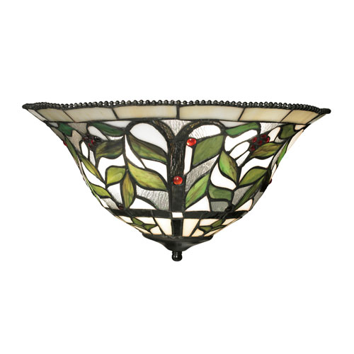 Latham Tiffany Bronze Two Light Wall Sconce